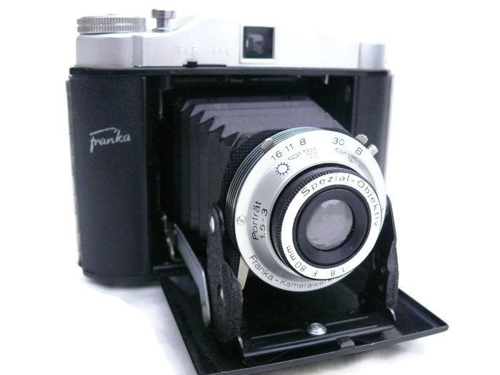 Franka Solida Record 120 Film Camera, Vintage Camera, 120 Film Camera, 6x6 Picture, Medium Format Camera, 120 Film, 1950s Camera by HarmlessBananasTribe on Etsy