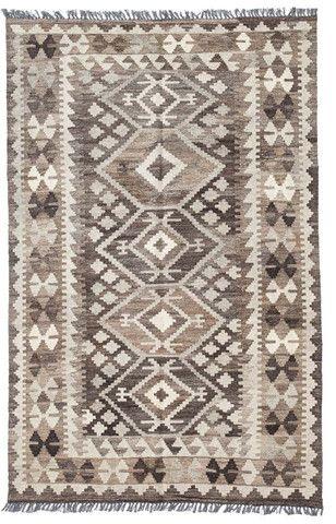 kilim - Kilim Afegão Natural 185x123 cm.