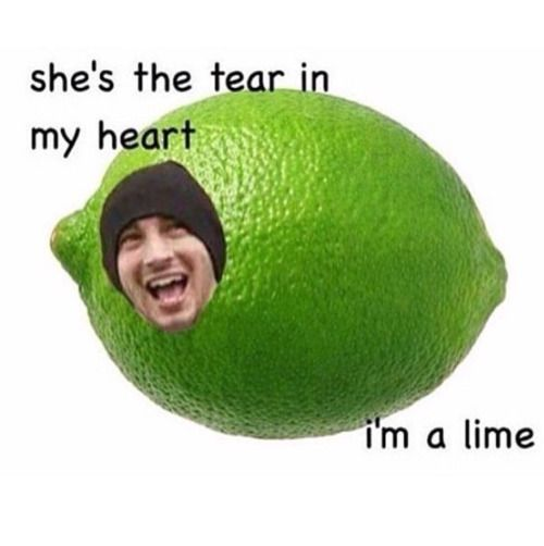 no its SHES THE PEAR IN MY CART, I'm a lime