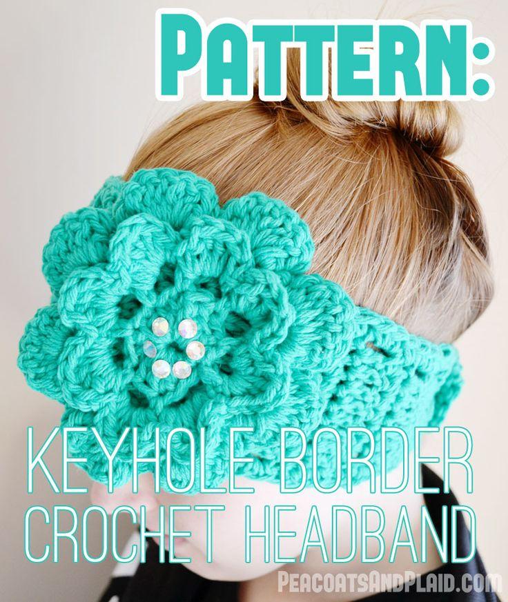 768 best crochet headbands ear warmers etc images on pinterest peacoats and plaid crochet keyhole border flower headband pattern link for the flower mightylinksfo Choice Image