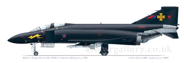 XV582: McDonnell Douglas Phantom FG.1 . 111 Squadron. RAF Leuchars, 1990
