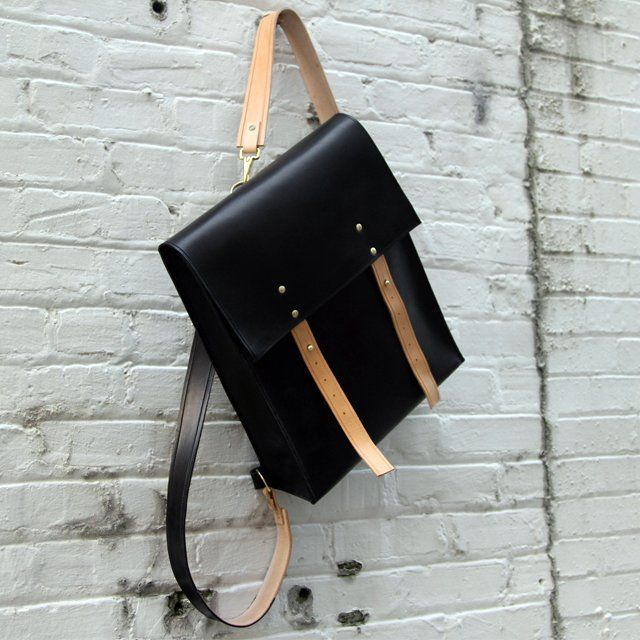 So gorgeous, practical, and expensive! Leather Rucksack by Mifland