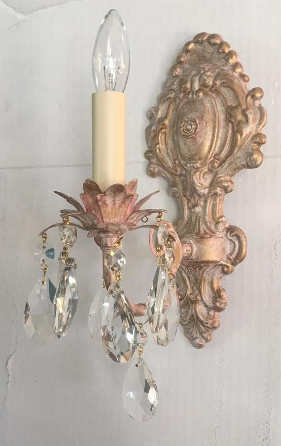 Custom Victorian Style Single Light Electric Wall Light Sconce