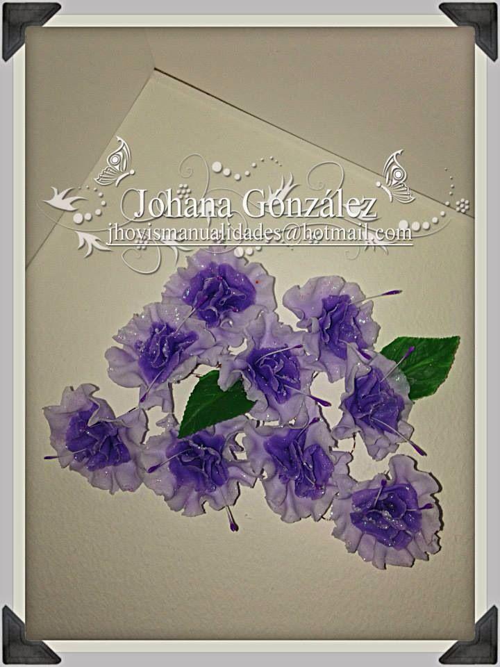 Flores en porcelanicron