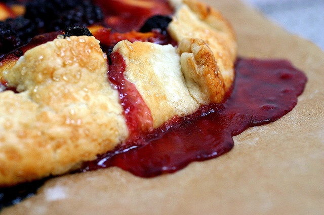Nectarine and Blackberry Galette.
