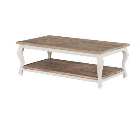 Piękny stolik drewniany z półką w stylu klasycznym wykonany z drewna dębowego