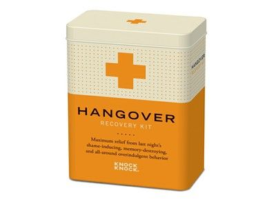 Have a secret suspicion he's going to drink too much sherry again this christmas run? Why don't you get him this hangover kit... Just in case