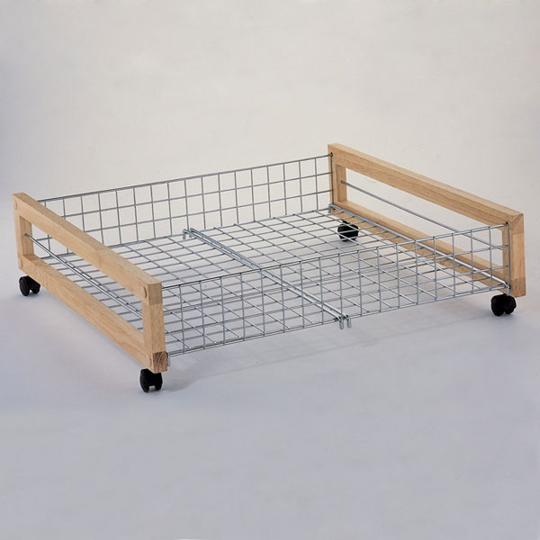 Metal Underbed Storage Rack Under Bed Shoe Storage