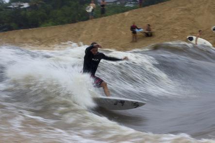 Waimea River surfing. http://blog.swell.com/waimea-river-surfing