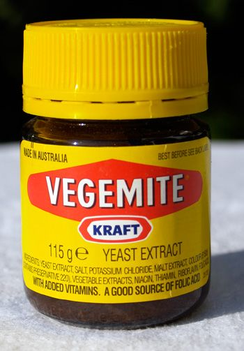 Vegemite is a yeast spread, an Australian competitor to British-made Marmite.