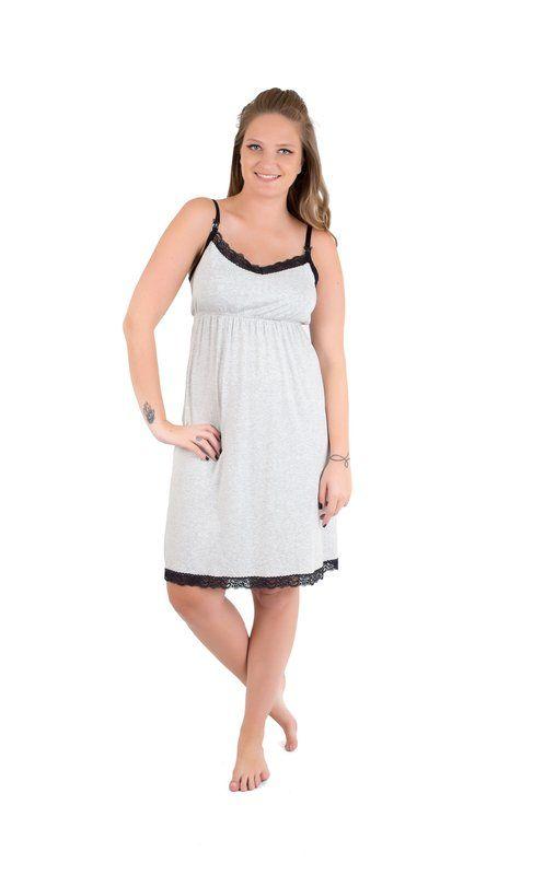 Qal grávida não vai querer uma camisola de amamentação linda e confortável? E já dá pra ir usando durante a gestação.