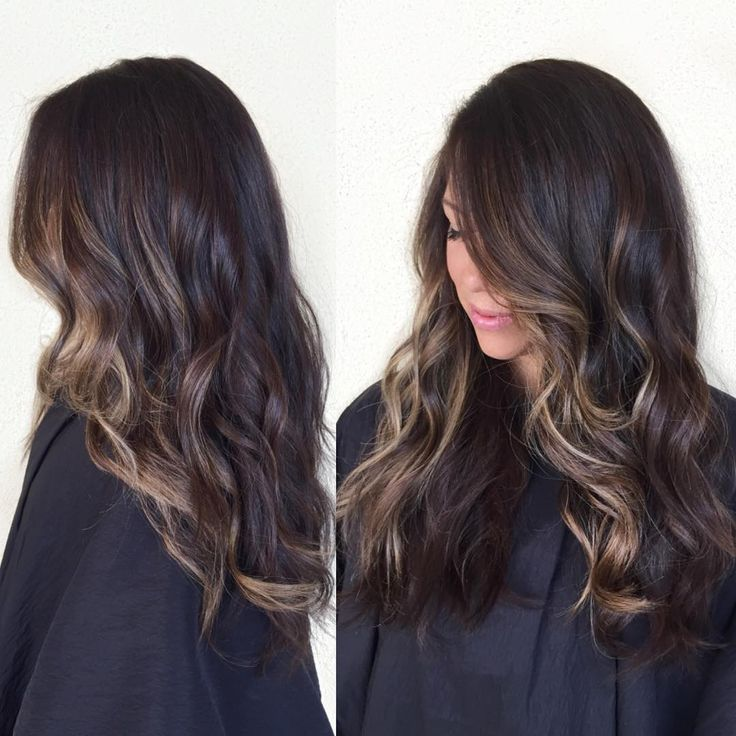 Freshened her up with a rich brown and added some balayage around her face for some dimension ✨ #hairpainting #balayage #babylights #brunette #fallhair #prettyhair #longhair #sombre #waves #hairinspiration #bronde