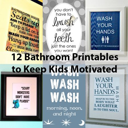 Free Printable Wall Art   Bathroom Decor for Kids' Morning Routine