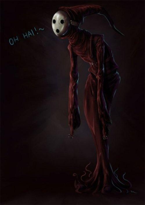 A freggin' creepy Shy Guy.