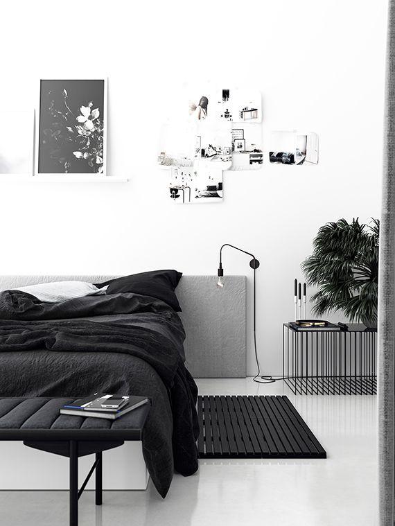 black and white bedroom design - Black And White Interior Design Bedroom