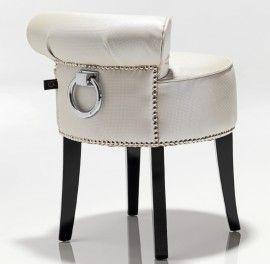 White Dressing Table Stool from blackorchidinteriors.co.uk
