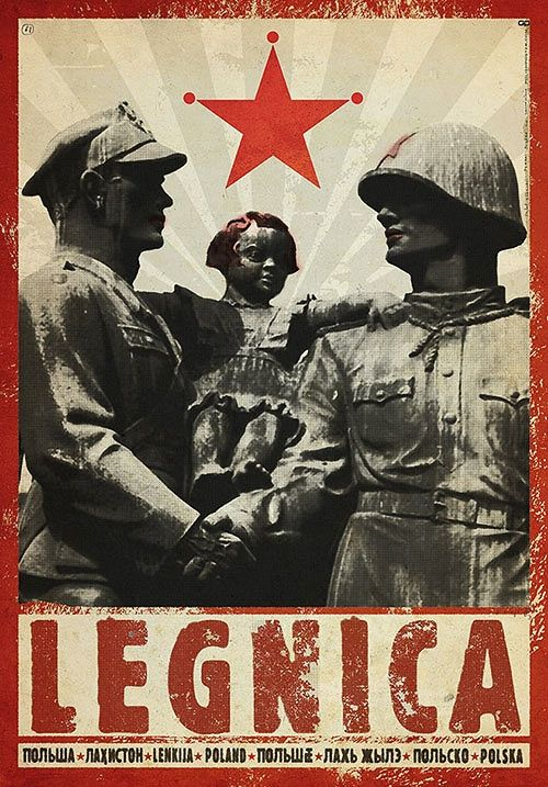 Legnica, plakat z serii Polska, Ryszard Kaja