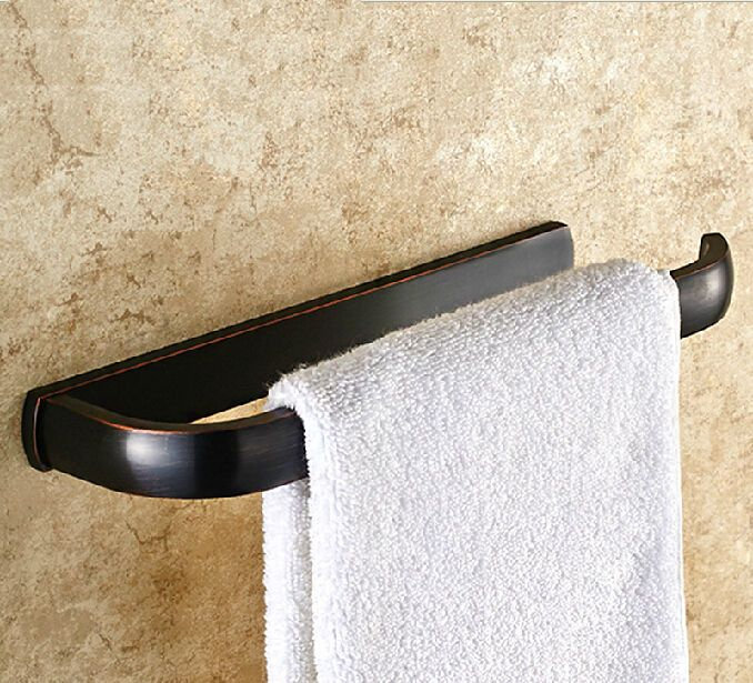 Modern Oil Rubbed Bronze Bathroom Towel Rack Holder Towel Ring Bar Hanger Brass…