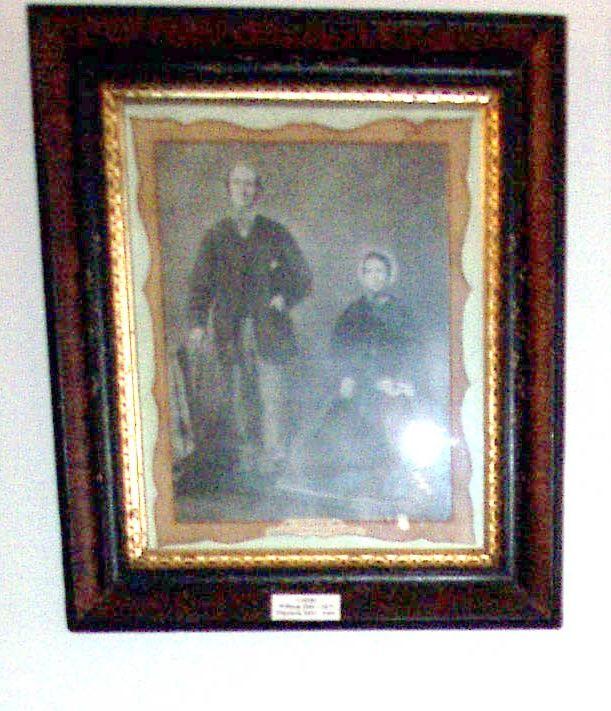 Framed photograph Mr & Mrs W Criddle.