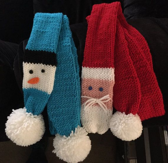 Handmade+Snowman+Scarf+by+DJHobbiesandcrafts+on+Etsy
