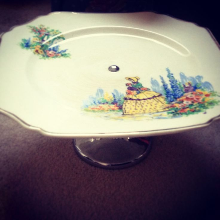 Gorgeous vintage cake stand from a second hand market.