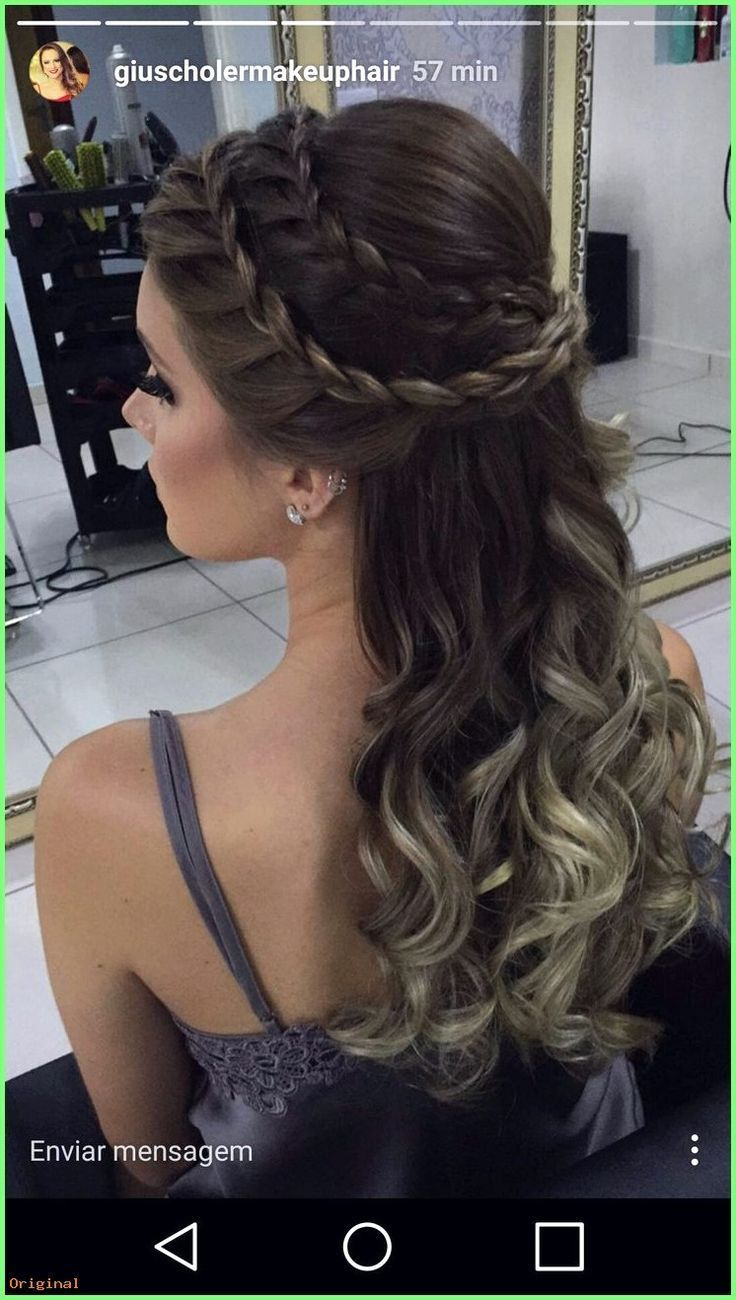 50+ Long Hair Models - #Bridesmaid Hair #Bridesmaid Hair # High-HalfHairSaarde ... #bridesmaid #hair #HighHalfHairSaarde #Long
