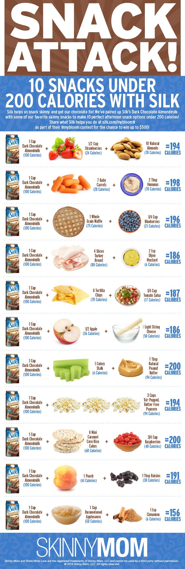 10 Snacks Under 200 Calories with Silk