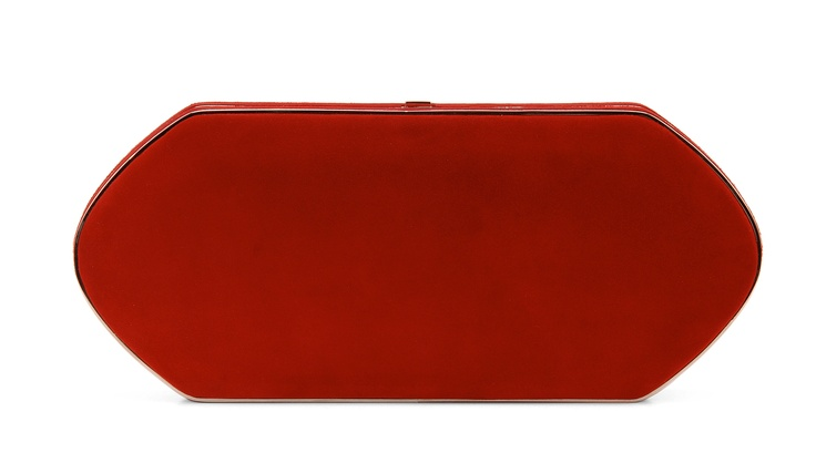 Hunting Season Red Suede Compact Clutch