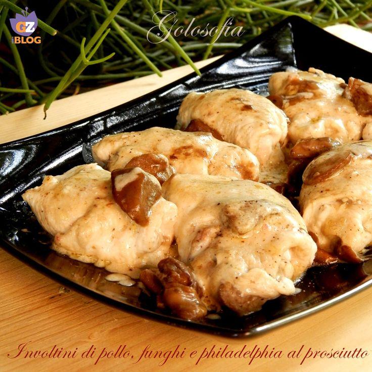 Involtini+di+pollo+funghi+e+Philadelphia+al+prosciutto,+ricetta+gustosa+e+veloce