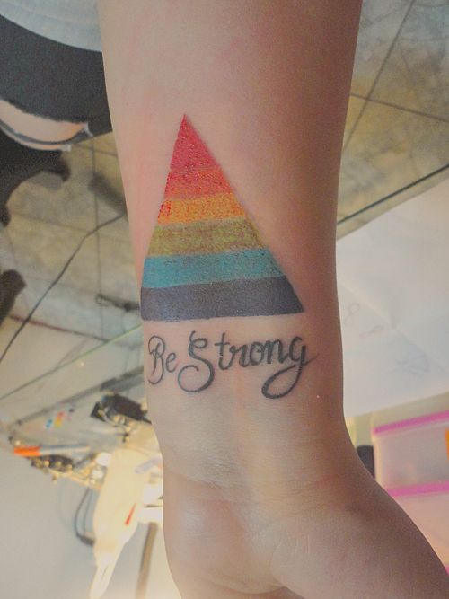 lesbian pride tattoos my tattoo gay pyramid because i m lesbian and be strong. Black Bedroom Furniture Sets. Home Design Ideas