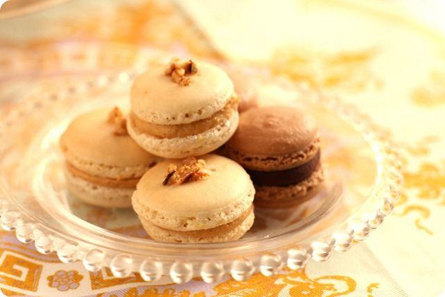 macarons praline chocolate