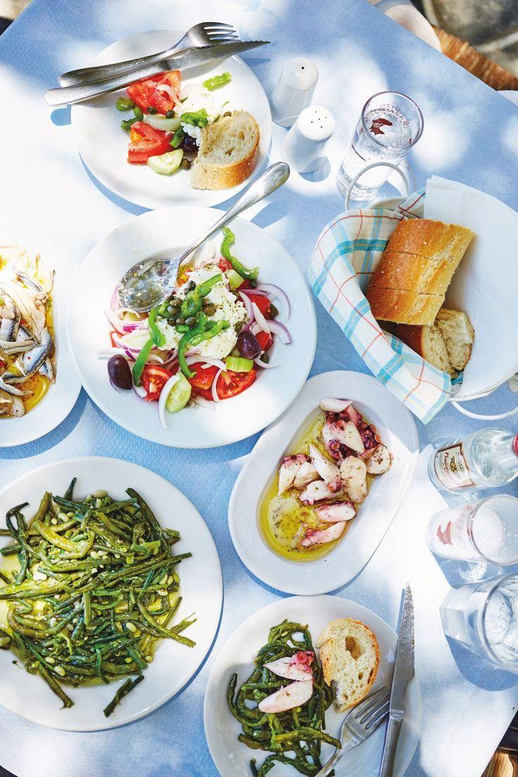 lunch at tsapis taverna near apokofto beach chryssopigi, Sifnos island, Greece