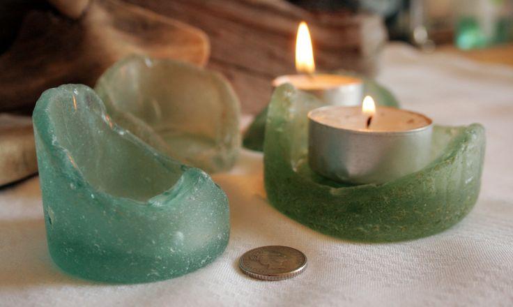 Sea Glass Crafts | Sea Beach Glass, Aqua, Seafoam, Bottle Bottoms, Vintage Crafts, Tea ...