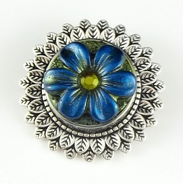 Brooch pin with interchangeable snaps handcrafted in polymer clay.  2 Good Claymates