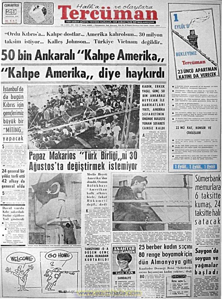 Tercüman gazetesi 29 ağustos 1964