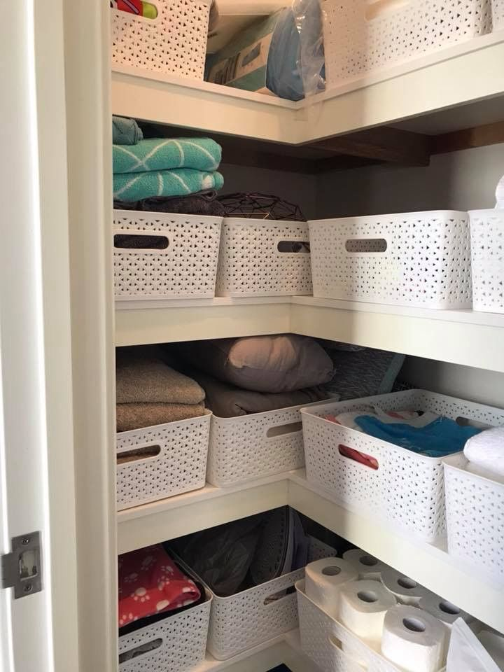 Kmart Linen Closet Linen Cupboard Laundry Room Organization Rental Decorating