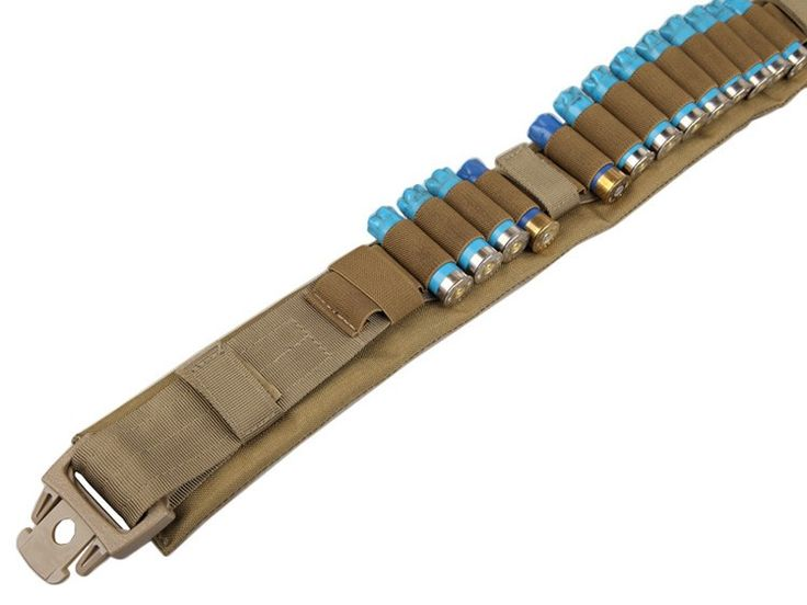 Heavy Duty Nylon Belt Tactical Airsoft Shotgun Cartridge Belt Buttstock Shotgun Shell Bandolier Belt