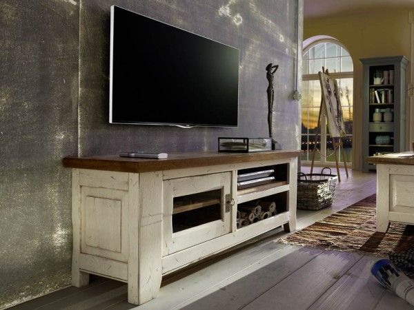 tv tisch eiche ariege voll massive wildeiche im shabby. Black Bedroom Furniture Sets. Home Design Ideas