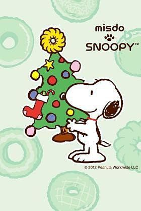 Snoopy and Christmas. Cell phone wallpaper / background. 0