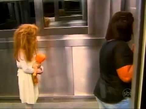 Girl scares people by standing in elevator (Prank) .This is a crying-laughing video.