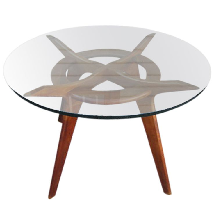 1stdibs - Lovely Adrian Pearsall Round Sculptural  Walnut Dining Table explore items from 1,700  global dealers at 1stdibs.com