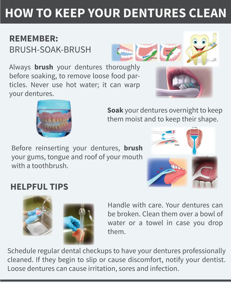Keep your dentures clean by following the simple phrase