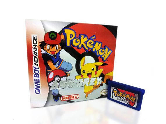 Pokemon Ash Grey for GameBoy Advance GBA! - Available Game Only or Game in Box!