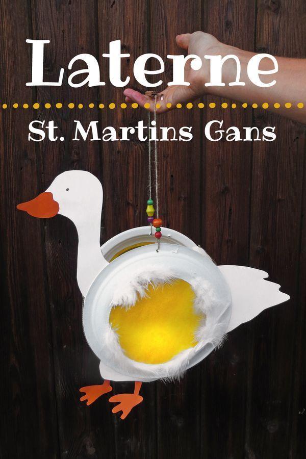 St. Martins-Laterne selber basteln: Leuchtende Martinsgans