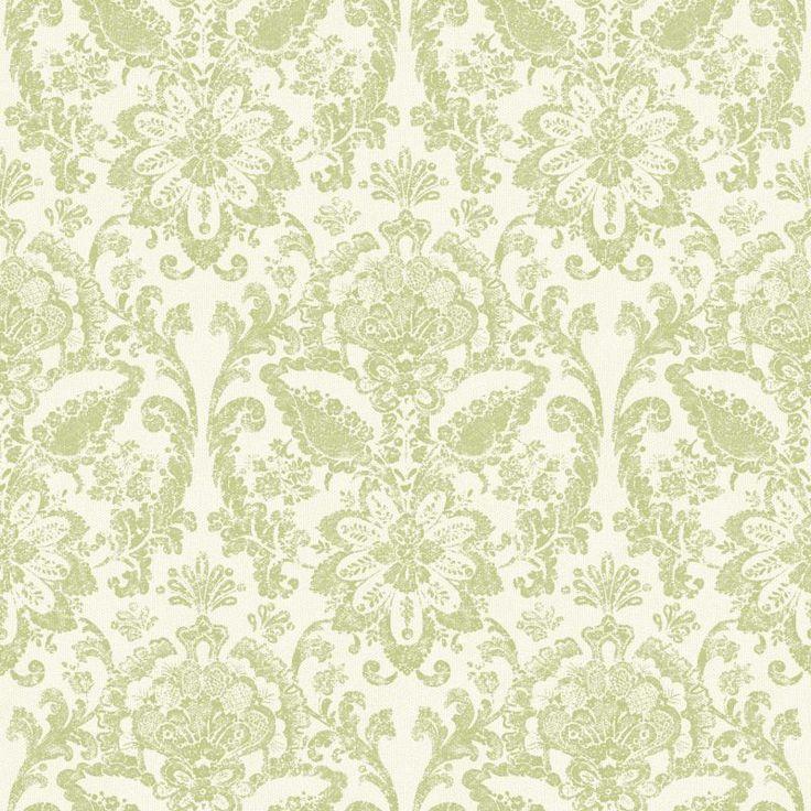 York Wallcoverings AM8753 Floral Damask Wallpaper White
