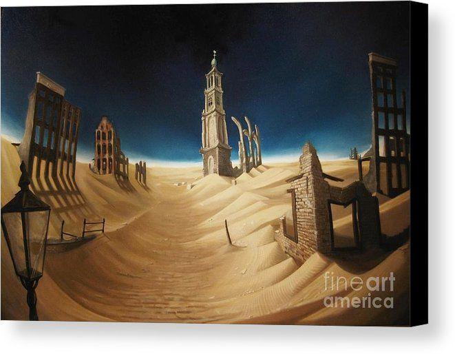 Amsterdam Desert, surrealistic Art.