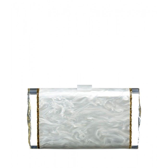 Edie Parker Marble Clutch - Shop the chicest accessories from our favorite fashion Instagrams: http://shop.harpersbazaar.com/trends/the-sunday-social