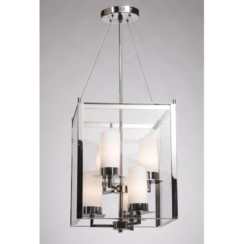 Crawford Chrome Six Light Chandelier Steven Chris Lighting Lantern Pendant Ceilin