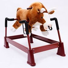 Kids Plush Rocking Horse Bull Theme Toy Riding Rocker Child Boys Ride w/ Sounds