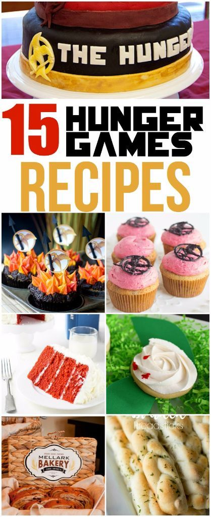 Have a secret crush on Jennifer Lawrence or Hunger Games quotes running through your head? You're gonna love this collection of 15 Hunger Games recipes. They're the perfect way to celebrate the Hunger Games Mockingjay Part 2 release! Yummy desserts, cupcakes, appetizers, cakes, and other great food ideas all inspired by your favorite movies. And holy cow that last recipe sounds so good.